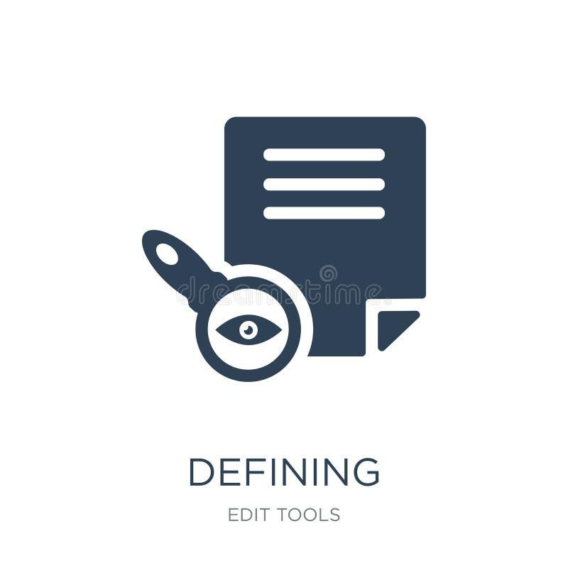 définition de l'icône dans le style à la mode de conception définissant l'icône d'isolement sur le fond blanc définissant l'appar illustration stock