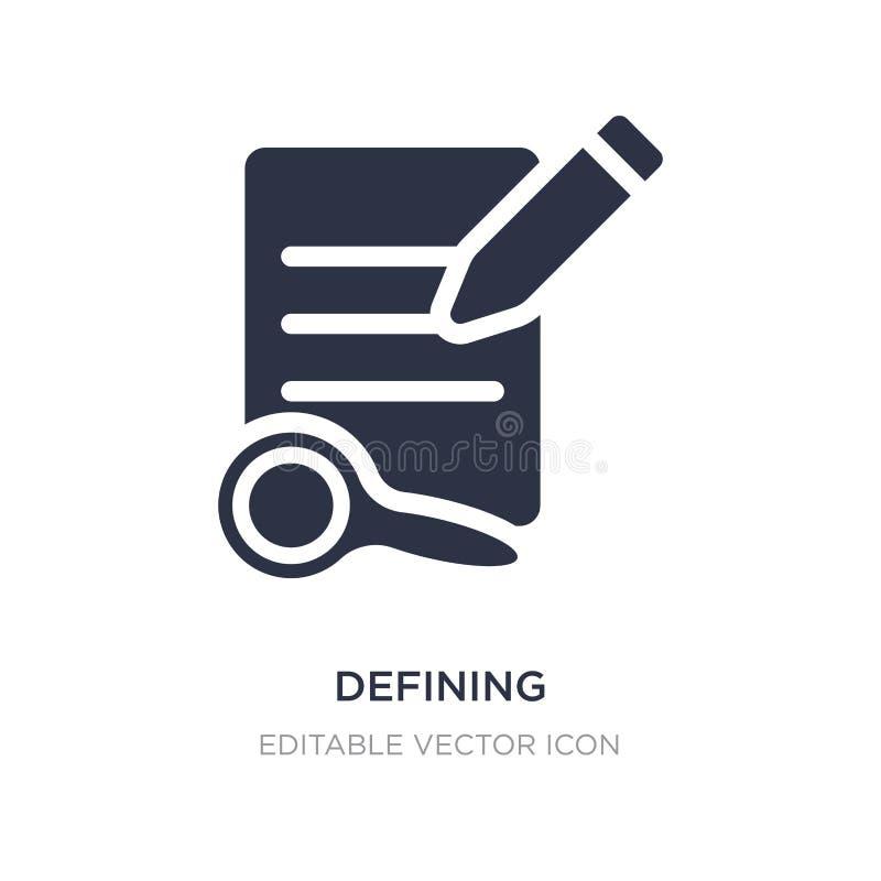 définition de l'icône sur le fond blanc L'illustration simple d'élément de éditent le concept d'outils illustration libre de droits