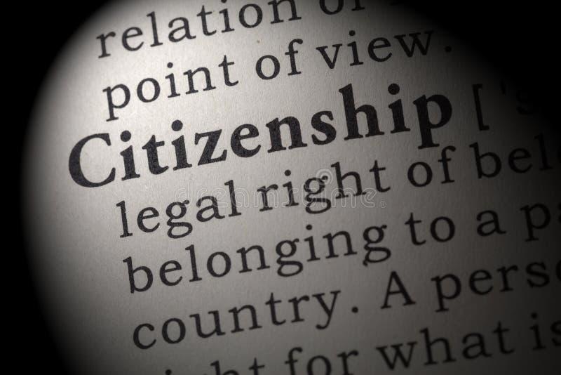 Définition de la citoyenneté image stock