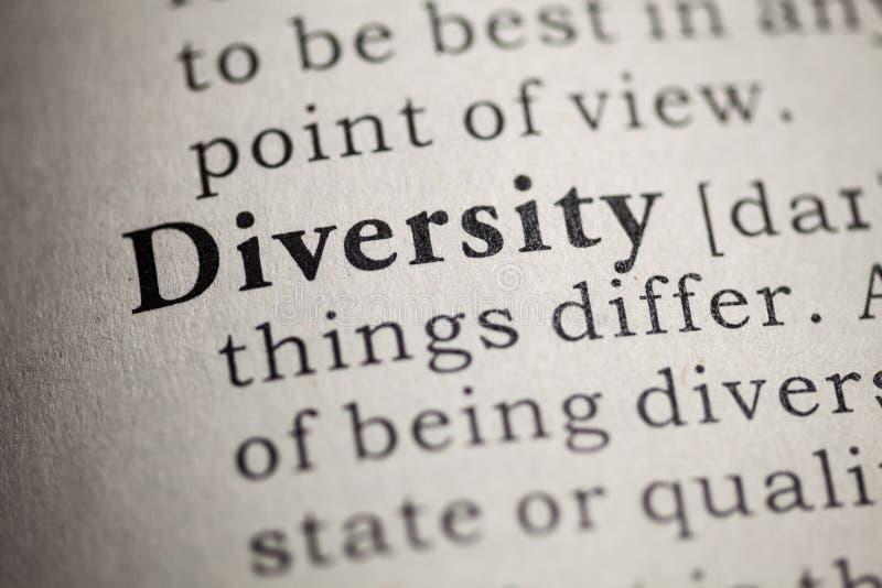Définition de la diversité de mot images libres de droits