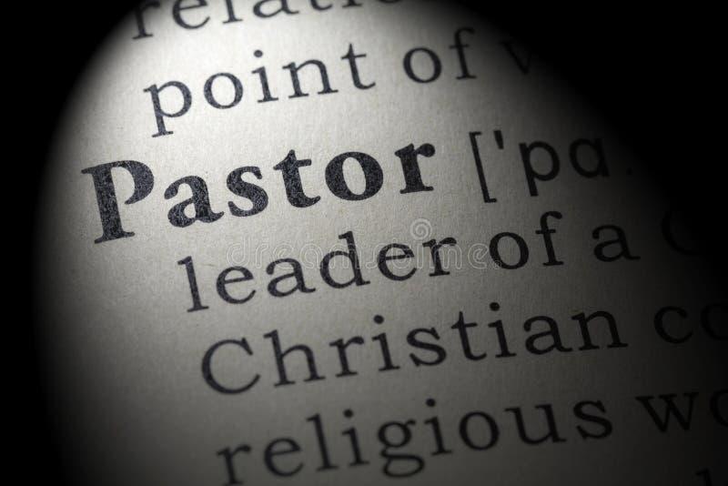 Définition de pasteur images libres de droits