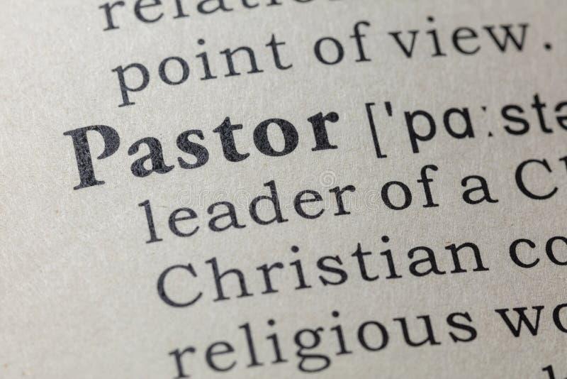 Définition de pasteur photos stock