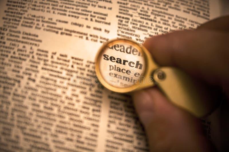 Définition de recherche de mot image libre de droits