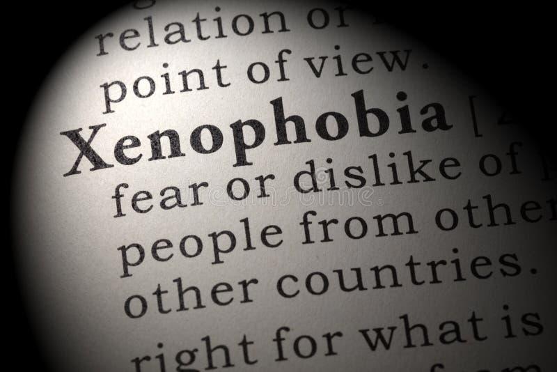 Définition de xénophobie images libres de droits