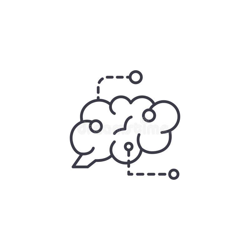 Définition du concept linéaire d'icône de buts En définissant la ligne de buts dirigez le signe, symbole, illustration illustration libre de droits