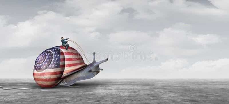 Défis lents d'affaires d'action des Etats-Unis illustration stock
