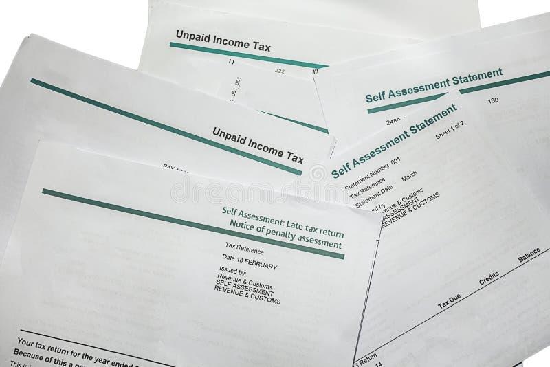 Défunte pénalité de déclaration d'impôt image stock