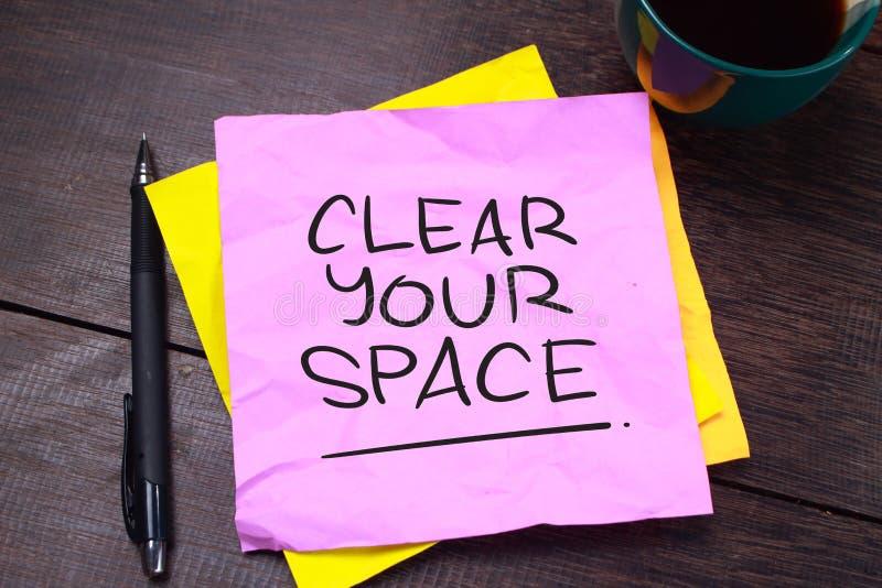 Dégagez votre espace, concept de motivation de citations de mots illustration stock
