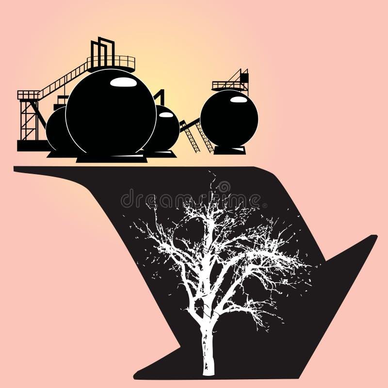 Dégradation environnementale illustration stock