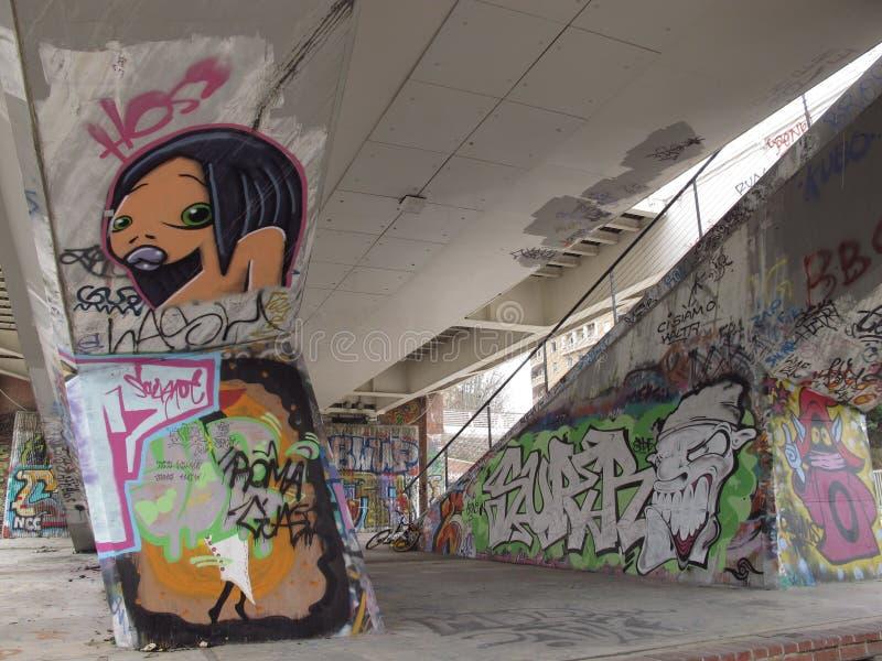 Dégradation urbaine des banlieues à Rome photographie stock