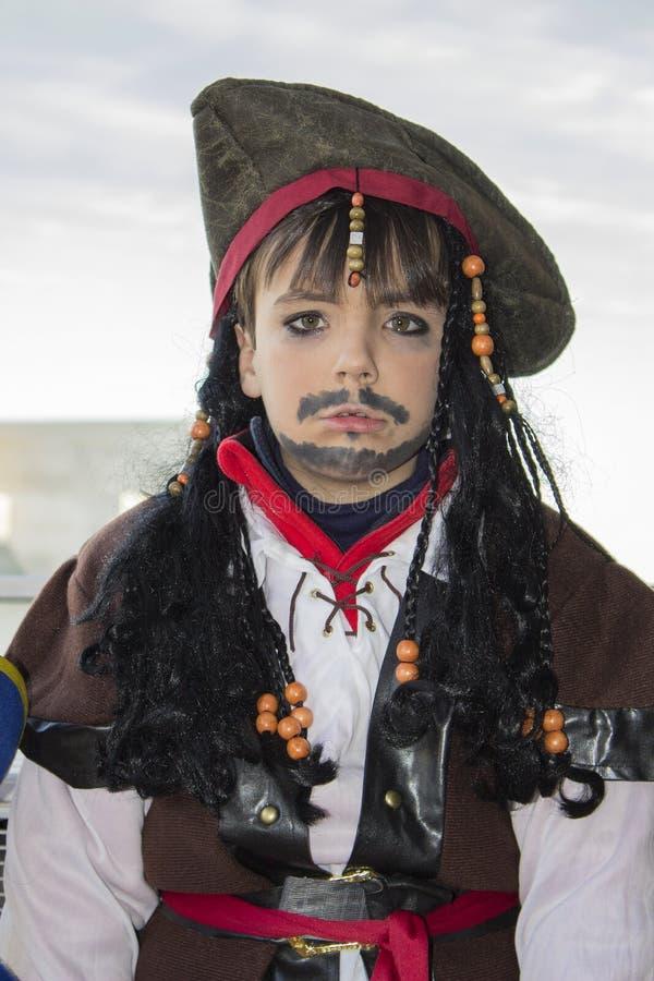 Déguisement de pirate de Halloween image stock