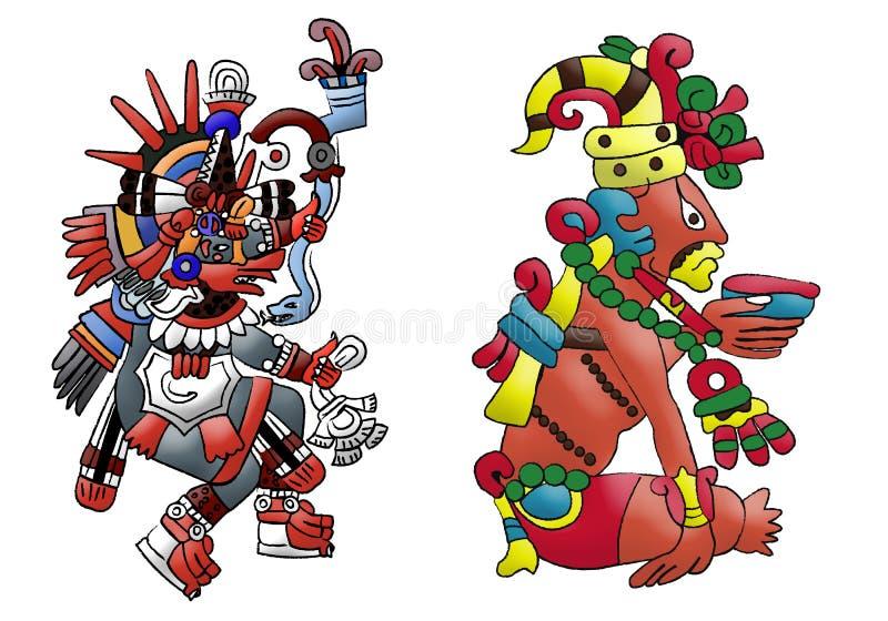 Déité aztèque maya Quetzalcoatl illustration libre de droits