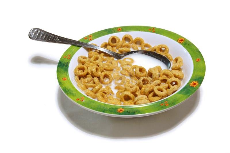 Download Déjeuner photo stock. Image du éclailles, lait, isolement - 54796