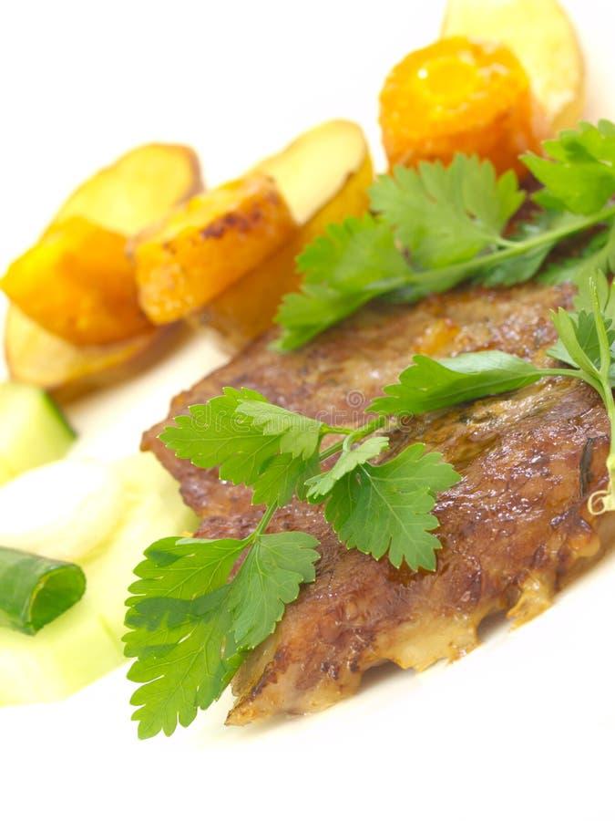 Déjeuner avec de la viande images stock