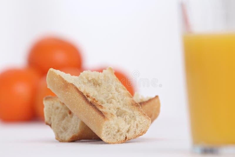 Déjeuner avec du pain grillé photos stock
