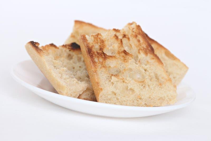 Déjeuner avec du pain grillé image stock