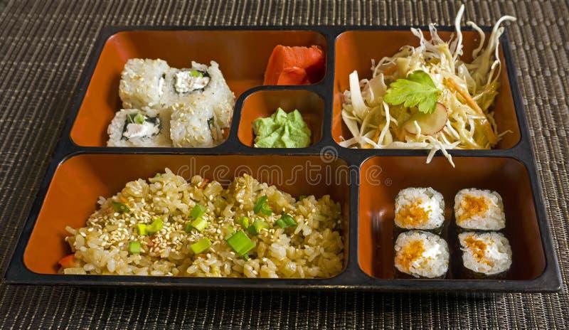 Déjeuner d'affaires dans le style japonais photographie stock libre de droits