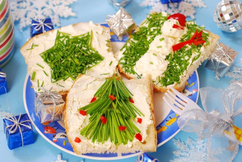 Déjeuner de Noël pour l'enfant photographie stock libre de droits