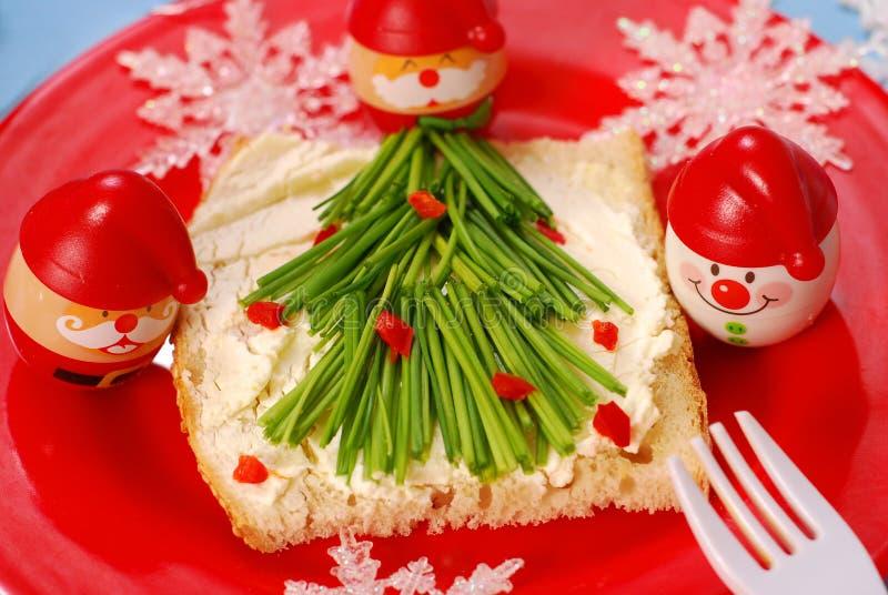 Déjeuner de Noël pour l'enfant image libre de droits