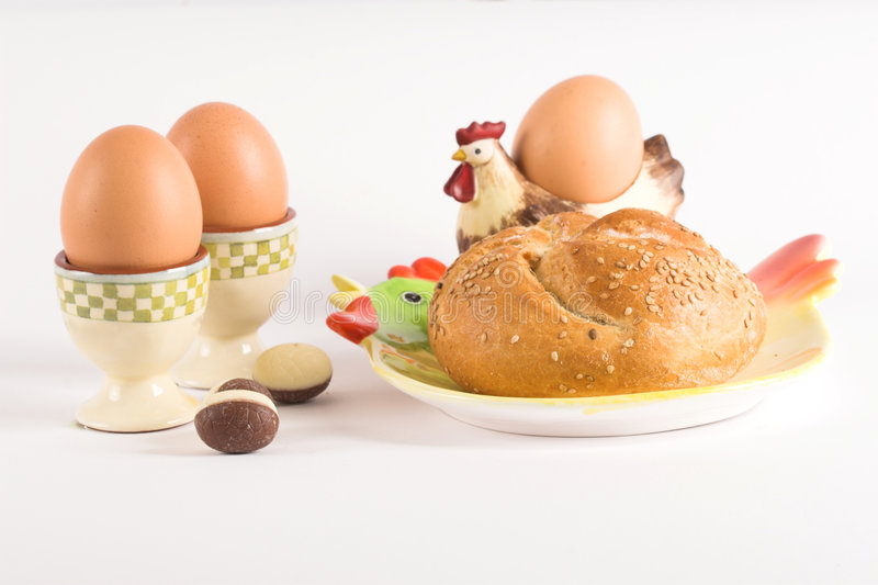 Déjeuner de Pâques image stock