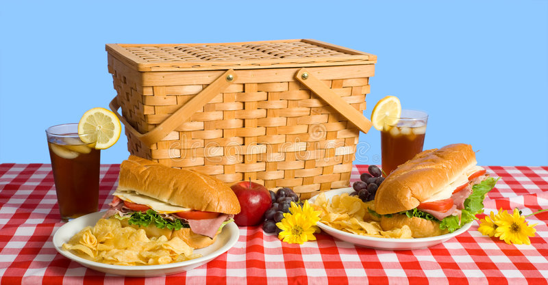 Déjeuner de pique-nique photo stock