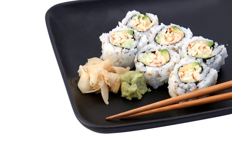 Déjeuner de roulis de sushi images libres de droits