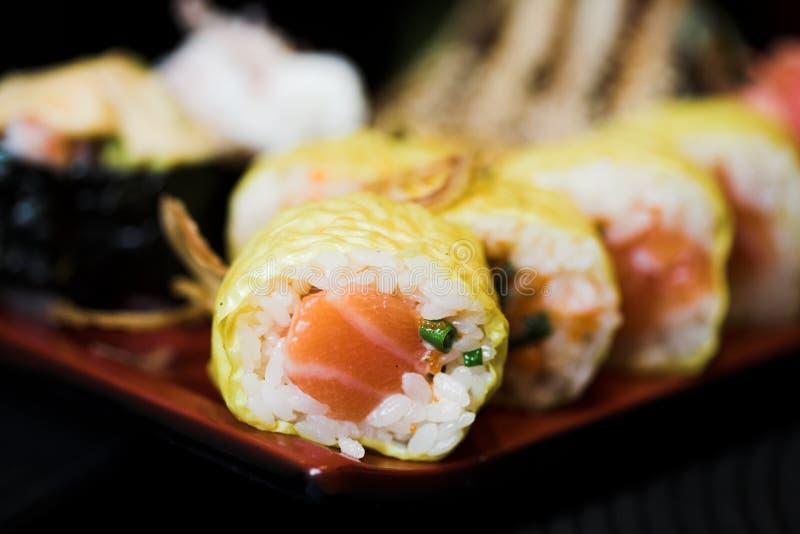Déjeuner des sushi assortis photographie stock