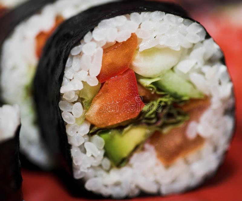 Déjeuner des sushi assortis image stock