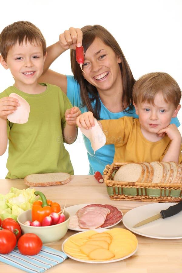 Déjeuner ensemble photo libre de droits
