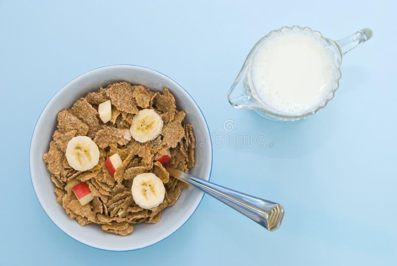 Déjeuner et lait images libres de droits