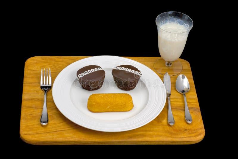 Déjeuner pas aussi sain photo libre de droits