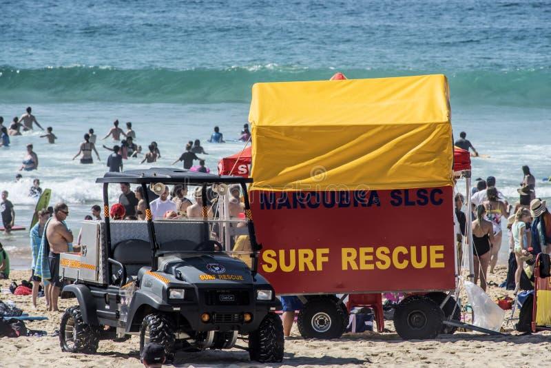Délivrance de ressac, Maroubra SLSC - Australie images libres de droits