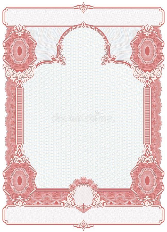 Délivrez un certificat le blanc illustration de vecteur