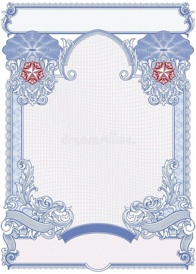 Délivrez un certificat le blanc illustration libre de droits