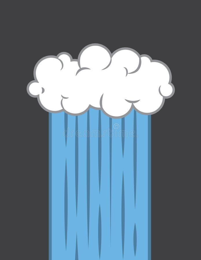 Déluge de nuage illustration libre de droits