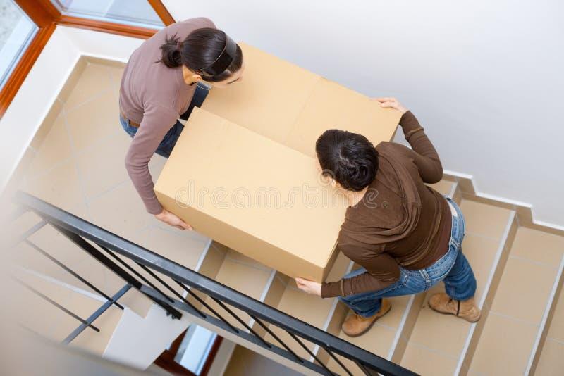 déménager à la maison neuf à photo stock