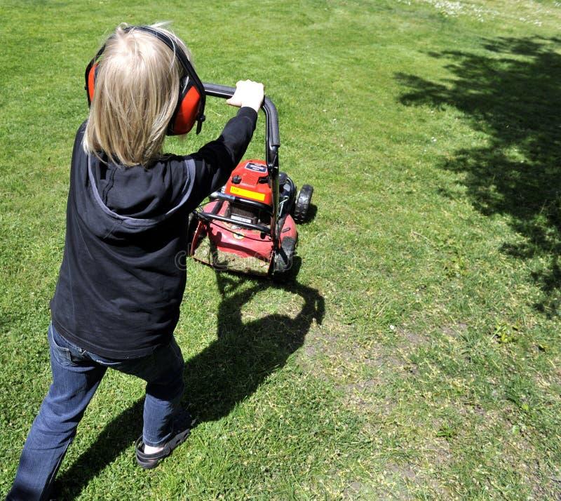 Déménager de pelouse photo libre de droits
