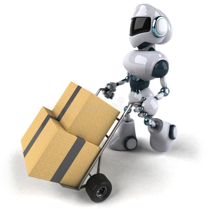Déménager de robot illustration stock