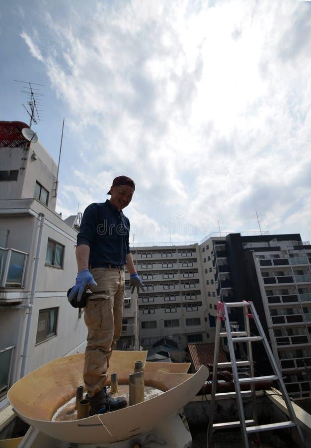 Démantelez la cuve de stockage de l'eau à Osaka photo libre de droits