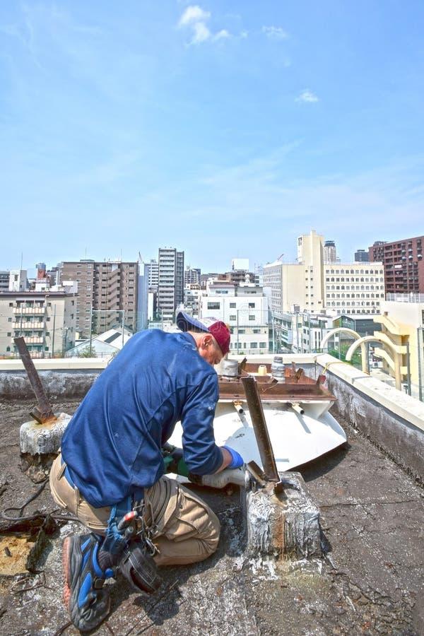 Démantelez la cuve de stockage de l'eau à Osaka photo stock