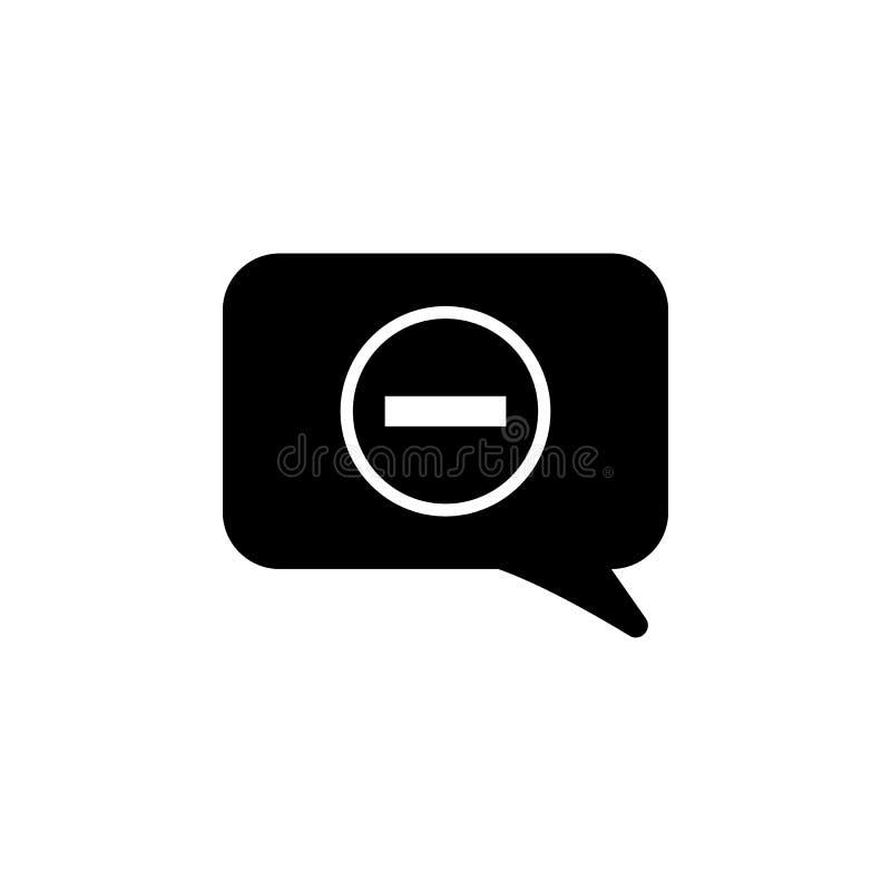 démenti dans une icône de bulle de communication Élément d'icône simple pour des sites Web, web design, APP mobile, graphiques d' illustration stock