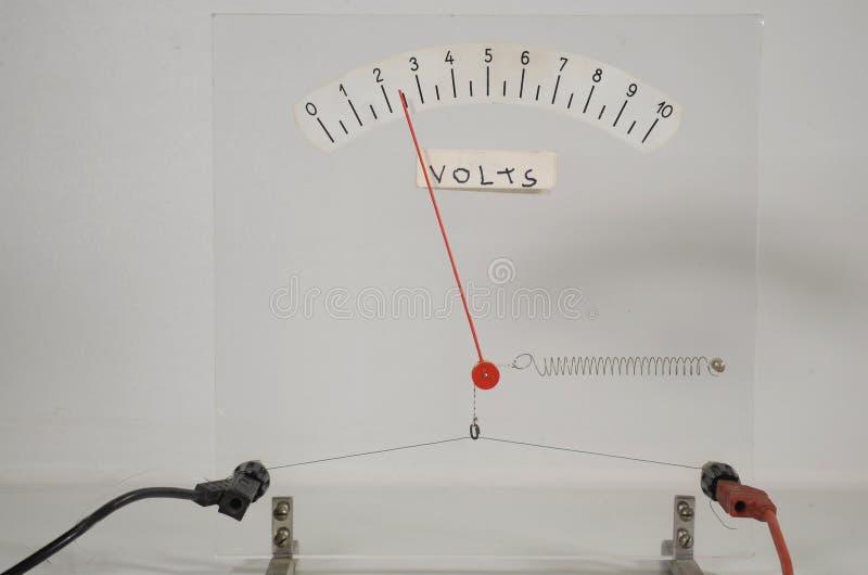 Démo chaude de voltmètre de fil de la glace images stock