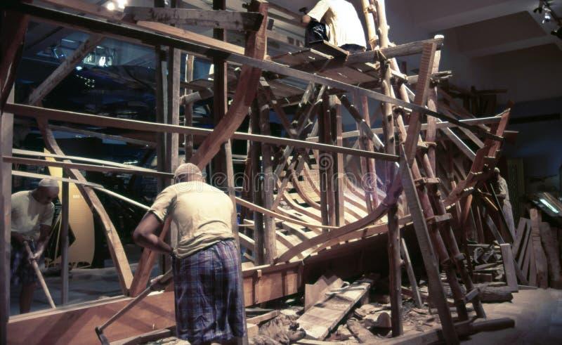 Démo de bâtiment de bateau photographie stock