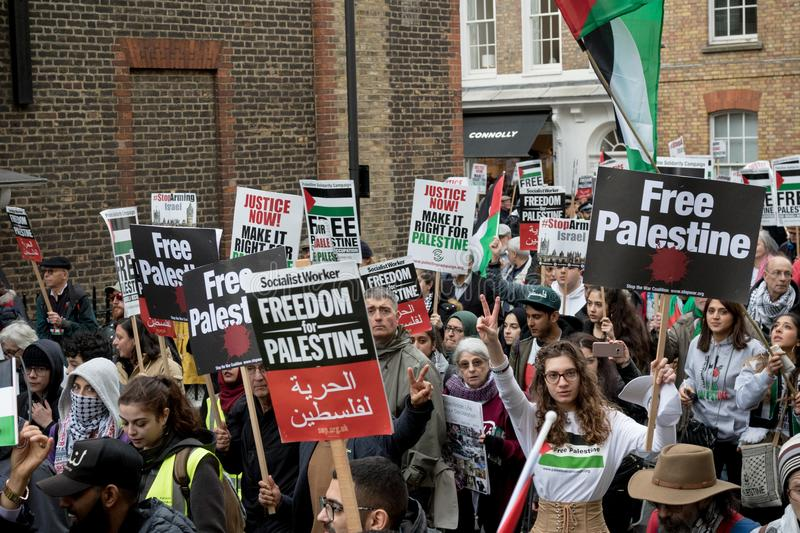 Démo nationale : Juge Now - rendez-le droit pour la Palestine Londres photos stock