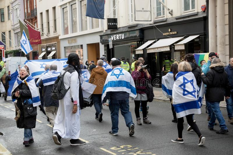 Démo nationale : Juge Now - rendez-le droit pour la Palestine Londres photo libre de droits