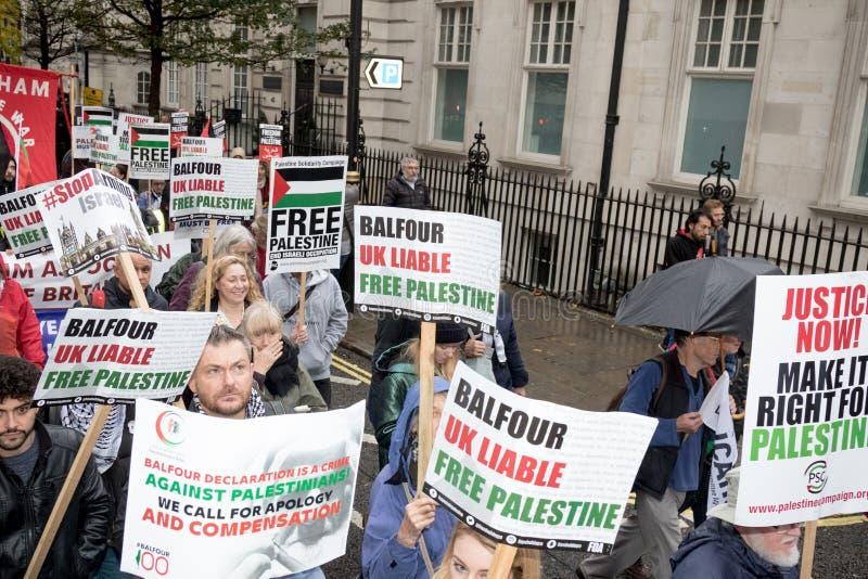Démo nationale : Juge Now - rendez-le droit pour la Palestine Londres photographie stock libre de droits
