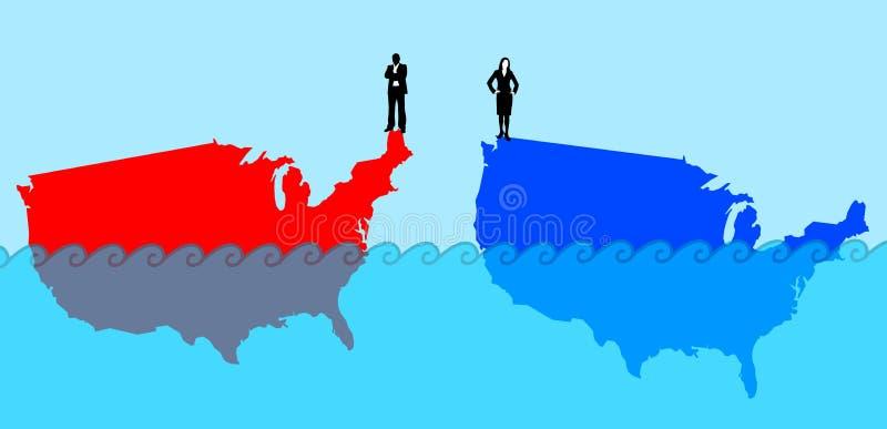 Démocrate contre le républicain illustration stock