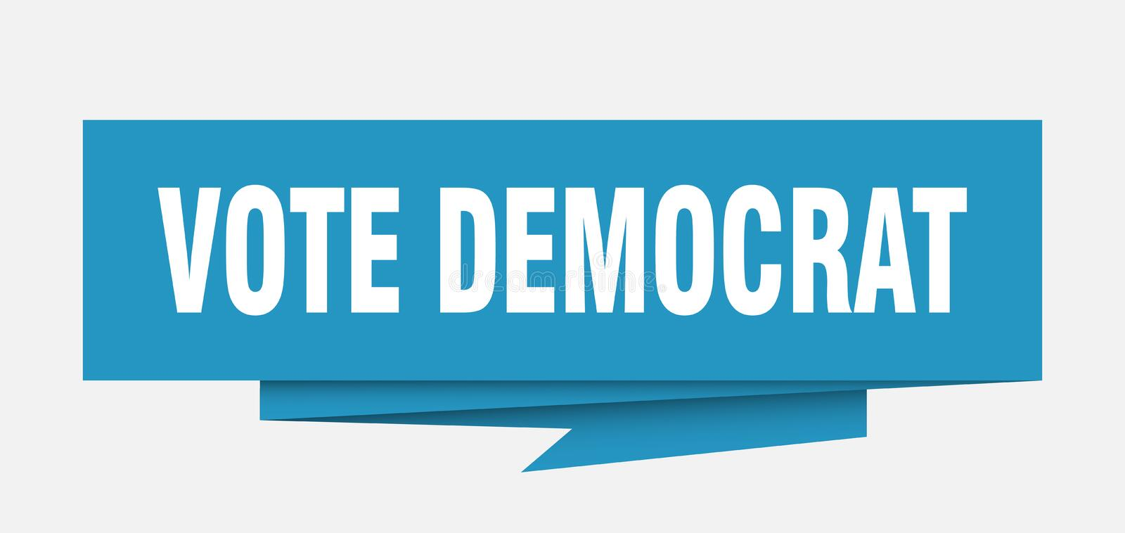 Démocrate de vote illustration stock