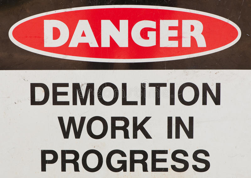 Démolition images stock