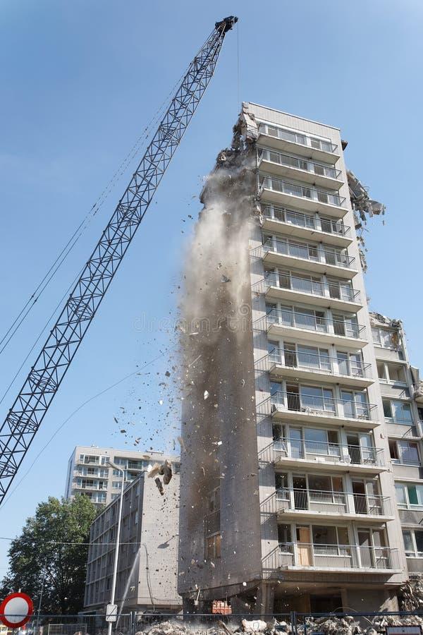 démolition of a building stock images